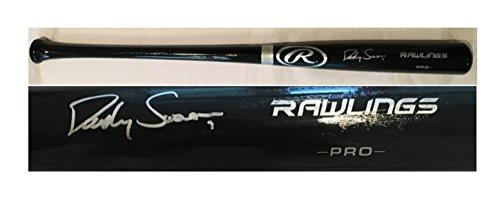 Dansby Swanson Autographed Black Big Stick Signed Baseball (Big Stick Autograph)