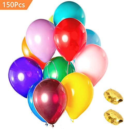 ((150 Packs) AOYOO Party Balloons 12-Inch Color Set, Balloon Decoration, Quality Latex Balloons for Birthday Wedding Party Home Decoration, Colorful Helium Balloons Make Your Event More Colorful)