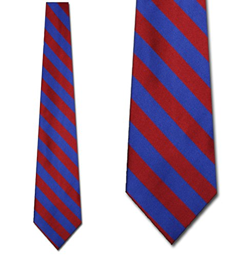 Mens College Burgandy and Royal Blue Striped Ties (Tie Stripe Rep)