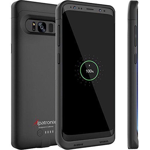 Galaxy S9 Battery Case with Qi Wireless Charging Compatibility, Alpatronix BX440 5.8-inch 4000mAh Slim Rechargeable Extended Protective Portable Backup Charger for Samsung S9 [Android 8.0+] - Black by Alpatronix (Image #1)