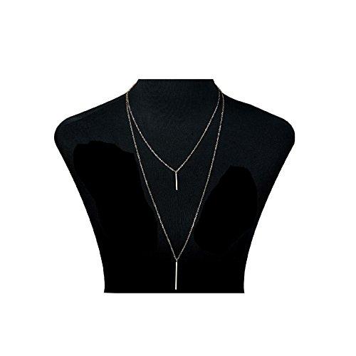 Unisex Necklace (Udalyn 1 PCS Tassel Choker Necklace Alloy Long Necklace Chain Set For Women Girl Long Gold-tone)