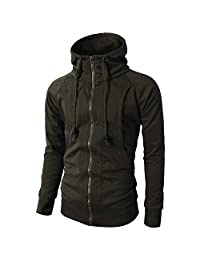 Theshy Fashion Mens' Autumn Winter Long Sleeve Sport Zipper Hoodie Pullover Blouse Tops