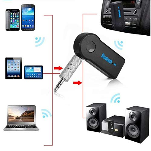 HoganeyVan Bluetooth Receiver Portable Wireless Music Adapter for Car 3.5mm Wireless Car Bluetooth Adapter Car Aux Adapter