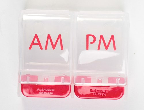 Ezy Dose Jour 1 AM / PM Push Button Pill Reminder - Pack de 3