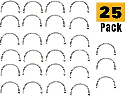 Pack 50 EZ-Fluid Stainless Steel Braided Faucet Water Supply Hose Lines 1//2 Fip x 3//8 Comp x 20