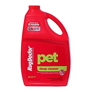 Rug Doctor Pet Deep Cleaner, Carpet Cleaning Solution for Rentals, Pro-Enzymic Formula Professionally Cleans Pet and Organic Stains and Permanently Removes Odors, 96 oz.