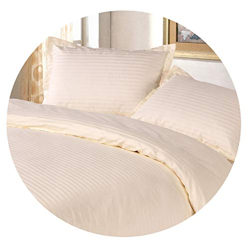 Clayton M Bracewell 3Cm Satin White Color 100% Cotton Duvet Cover Set USA Twin Full Size Include Duvet Cover and Pillow Case,Such As Pictures8,USA Queen Size