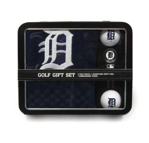 - Team Golf MLB Detroit Tigers Gift Set Embroidered Golf Towel, 2 Golf Balls, & Divot Tool with Removable Double-Sided Magnetic Ball Marker