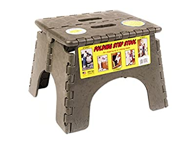 B and R Plastics 9 in. EZ Foldz Step Stool, 1 Step