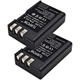 Turpow Nikon Battery EN EL9-TURPOW 2 Pack 2000mAh Replacement Nikon EN-EL9 Li-ion Battery for Nikon D5000 D3000 D60 D40x D40 Digital SLR Camera