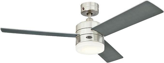 Westinghouse Lighting Alta Vista Ventilador de Techo Integrado, 17 W, Plateado: Amazon.es: Iluminación