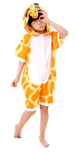 MiziHome Children Size Summer Anime Short Sleeve Party Cosplay Costumes Giraffe S ()