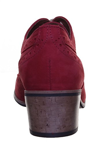 Justin Reece - Botas de piel mate para mujer Red PN12