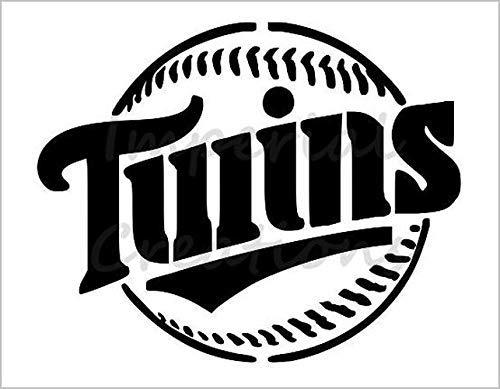 MINNESOTA TWINS Baseball Team 8.5 x 11 Stencil 20 Mil Plastic Sheet NEW S186
