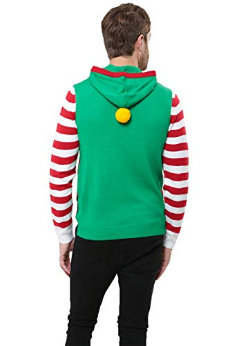 Threadbare Noël Isle Tricoté Santa Elf Fair Renne Homme Pull Nouveauté Suit rBW58rwq