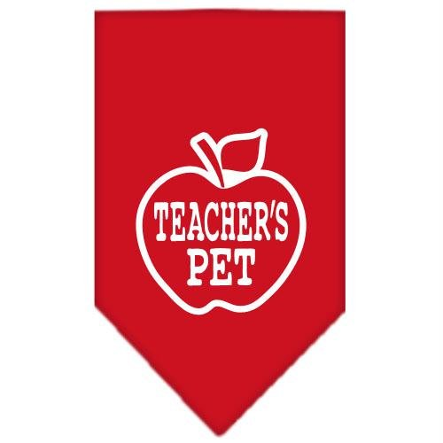 Mirage Pet Products Teachers Pet Screen Print Bandana, Large, Red by Mirage Pet Products (Image #1)