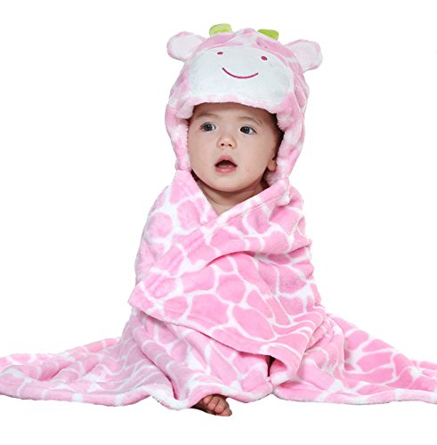 Uleade Cute Animal Cartoon Baby Infant Kid's Hooded Towel Wrap