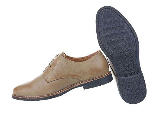 Herren Schuhe Business-schuhe Schnürer Hellbraun