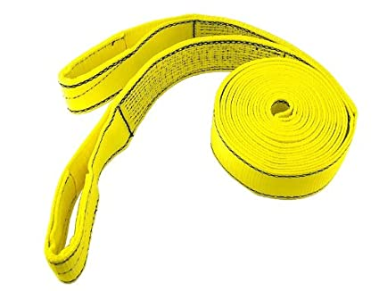 ProGrip 06602 30-Feet x 3-Inch Polyester Flat Webbing Heavy Duty Recovery Strap with Loops