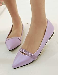 DFGBDFG PDX/Damen Schuhe Patent Leder flach Ferse Komfort/spitz Wohnungen Office & Karriere/Kleid/Casual Blau/Rot/mandel, blue-us5.5/eu36/uk3.5/cn35 - Größe: One Size