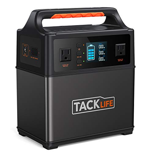 TACKLIFE P40 400Wh 36000mAh Solar Generator 110V/300W AC/DC New Generation Portable Power Station with Multiple Outlets, Rechargeable Backup Power Supply for Outdoor Using