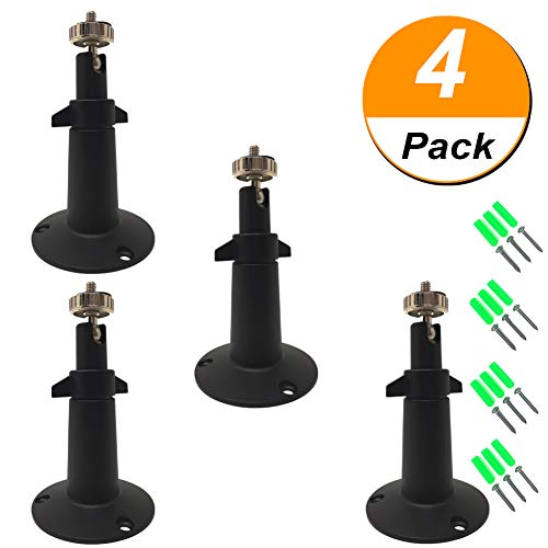 Arlo Outdoor Security Mount Designed for Arlo and Arlo Pro Cameras (4Pack - Metal,Black)