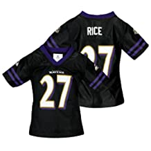 NFL Baltimore Ravens Toddlers Ray Rice #27 Dazzle Jersey, Black