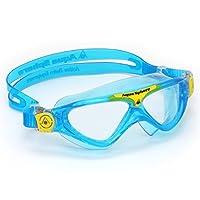 Máscara de natación Aqua Sphere Vista Junior con lente transparente, azul /amarillo