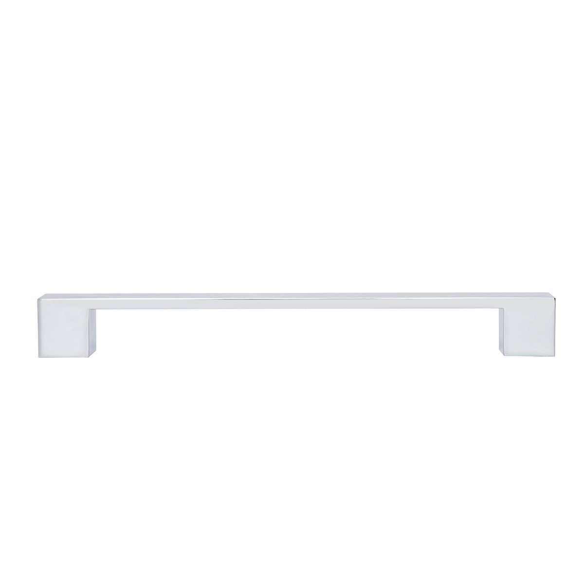 Tirador moderno y corto para armario 16,2 cm de longitud Cromo pulido Paquete de 10 Basics 12,7 cm de centro del orificio
