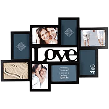 Amazon Com Gallery Solutions Black 3d Love Collage Frame