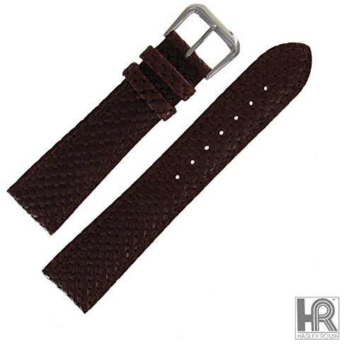 Hadley Roma Tan Leather Basketweave Watch Strap 22mm MS843