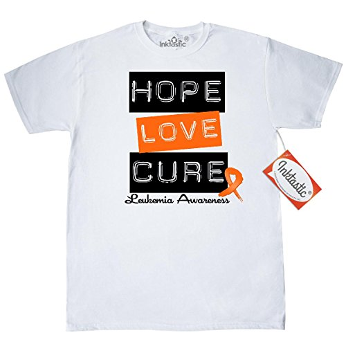 T-shirts Leukemia - Inktastic Leukemia Hope Love Cure T-Shirt by HDD Large White
