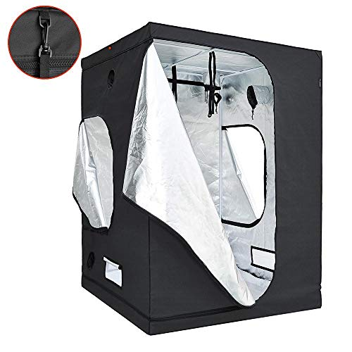 $121.95 indoor grow tent diy LAGarden 60″ x 60″ x 84″ 600D 100% Reflective Diamond Mylar Hydroponics Indoor Grow Tent Non Toxic Planting Room 2019