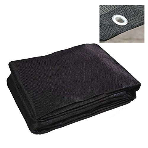 LIANGJUN Shading Net Sunblock Breathable 6-pin Knitting Buttonhole Ventilation Patio Outdoor - UV Block (Color : Black, Size : 6x6m)