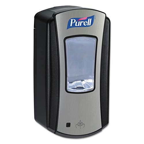 Purell Sanitizer Wall Mount - PURELL LTX-12 Touch-Free Hand Sanitizer Dispenser, Chrome/Black Finish, Dispenser for PURELL LTX-12 1200 mL Hand Sanitizer Refills - 1928-01