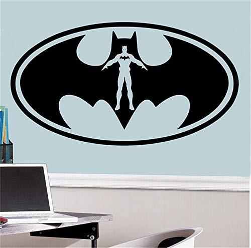 Ysisa Batman Wall Decal Sticker New Batman Vinyl Wall Decals Wallpaper Classic Batman Logo Window Wall Poster Wall Murals ()