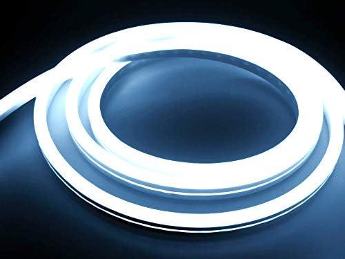 LED Universum 12 Meter Pro230 NeonFlex LED Streifen kaltweiß mit Netzanschlusskabel, IP65, 230 V, 9 W/m, 280 lm/m, für Innen- und Außenbereich