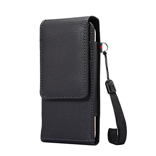 Lordwey® Funda 3.5-4.8inch universal teléfono móvil cinturón caso de la bolsa, Vertical cuero de la PU caja de la cartera de la cintura para el iPhone 7/iPhone 6/Redmi 3X -negro negro