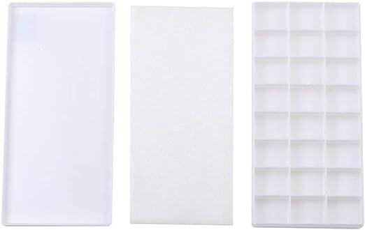 ZSPAYFNH 24 Mallas de Pintura Paleta Caja de plástico vacía Arte ...