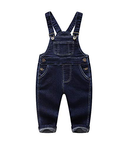 - Kidscool Pure Cotton Baby & Toddlers Bib Jeans Overalls,Blue,2-3 Years