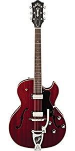 Guild Starfire III with Guild Vibrato Tailpiece Hollow Body Electric Guitar with Case (Black) from Guild