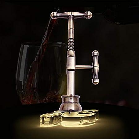 JERKKY Abridor de Botellas de Vino, Abridor de Botellas de Vino Vintage Sacacorchos de aleación de Zinc Sacacorchos de Corcho de Color Bronce Diseño de Rosca Herramientas de Apertura de Vino Tinto