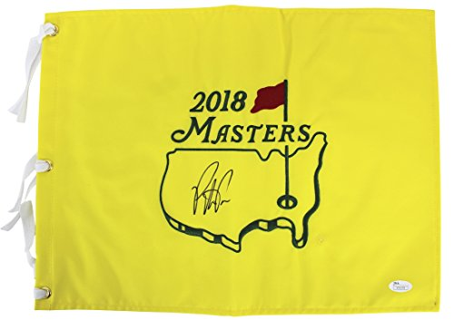 Patrick Reed Authentic Signed 2018 Masters Pin Flag Autographed JSA #V35278 ()
