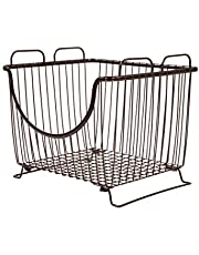 Spectrum Diversified Ashley Stackable Basket, Large, Bronze