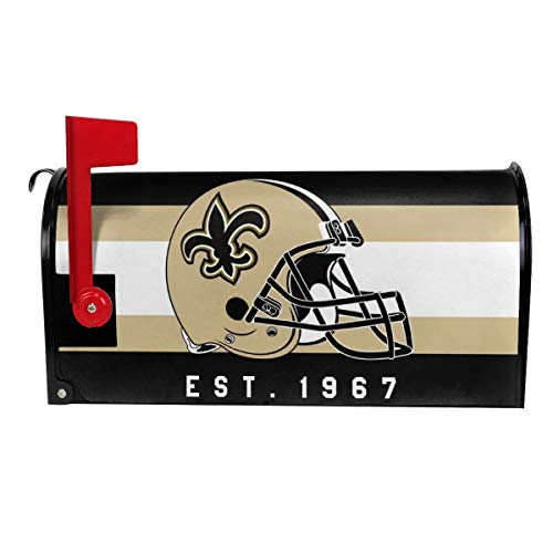 Gdcover Custom New Orleans Saints Garden Magnetic Mailbox Cover for Outdoor Decor ()
