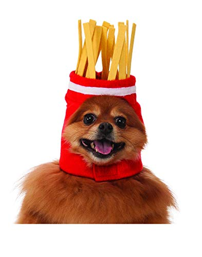 French Fries Dog Pet Costume Hat - M/L - Sombrero De Papas Fritas