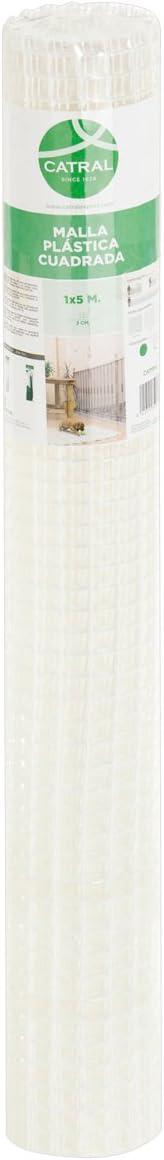 Catral 52010008 - Rollo malla cuadrada, 0.2 x 300 x 100.0 cm, color blanco