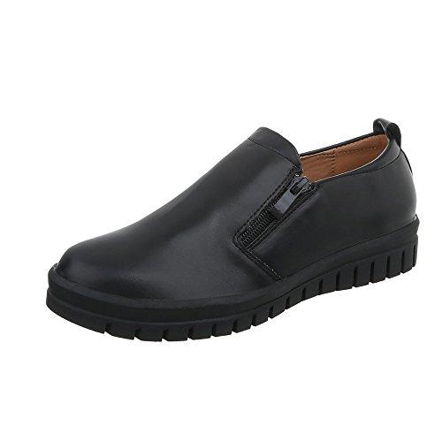 Freizeitschuhe Moderne Sneakers Schwarz Low Sneakers J7A Ital Damenschuhe Low Design n0YR8Zqw