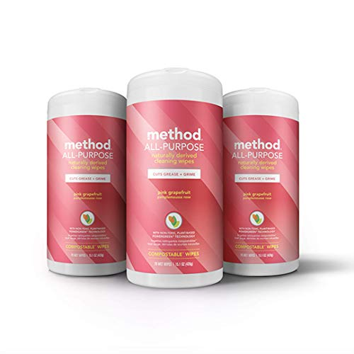 - Method All-purpose Cleaning Wipes, Pink Grapefruit, 70 Count,Pack of 3