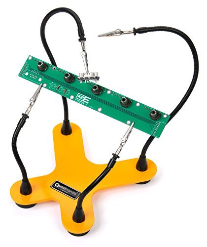 QuadHands Helping Hands Third Hand Soldering Tool and Vise - Four Flexible Metal Arms Can Be Positioned Exactly Where You Want - Professional Grade by QuadHands (Image #2)